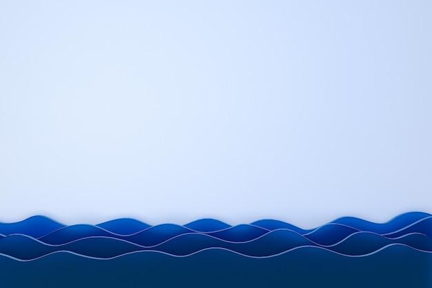 Rendu 3d, fond d'art abstrait papier découpé