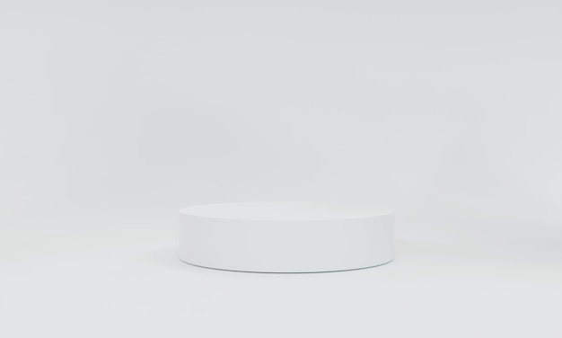 Rendu 3d, fond blanc de produits de scène blanc peut être utilisé comme arrière-plan pour la conception de bannières cosmétiques ou de tout produit
