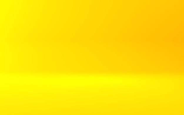 Rendu 3d de fond de concept minimal abstrait orange jaune vide. scène pour la publicité,