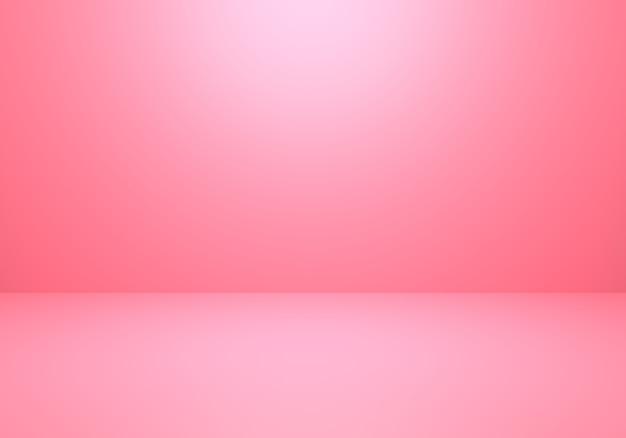 Rendu 3d de fond de concept minimal abstrait rose vide
