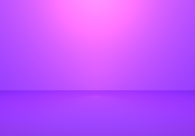 Rendu 3d de fond de concept minimal abstrait violet vide