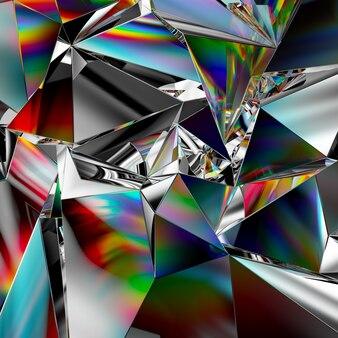 Rendu 3d de fond de cristal abstrait