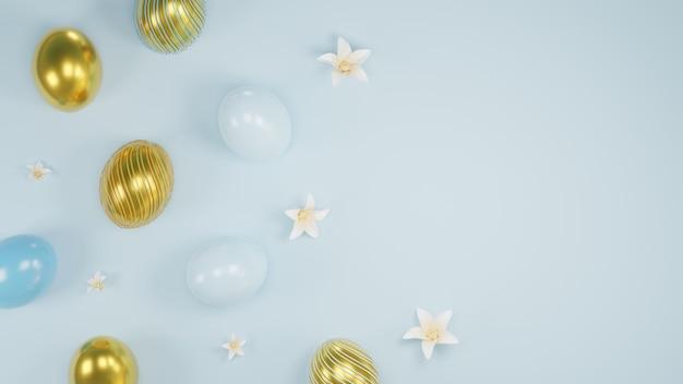 Rendu 3d fond de modèle de bannière joyeux jour de pâques.