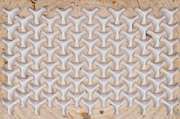 Rendu 3d de fond motif géométrique en marbre.