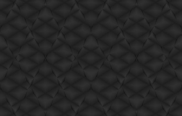 Rendu 3d. fond de mur de carreaux de conception d'art de grille carré noir sans soudure.