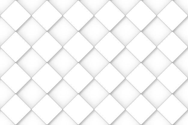Rendu 3d. fond de mur de conception d'art de motif de grille carré blanc minimal sans soudure.