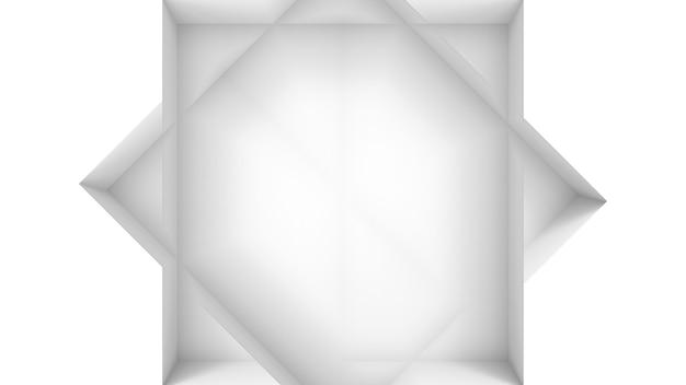 Rendu 3d. fond de mur de conception de coin carré carré minimal moderne.