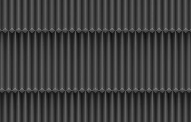 Rendu 3d. fond de mur moderne design bar parallèle vertical foncé.