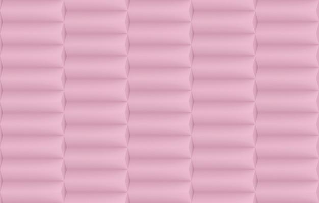 Rendu 3d. fond de mur de pile de bar géométrique horizontale rose douce douce.