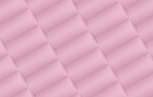 Rendu 3d. fond de mur de la pile de barre géométrique diagonale rose doux doux.