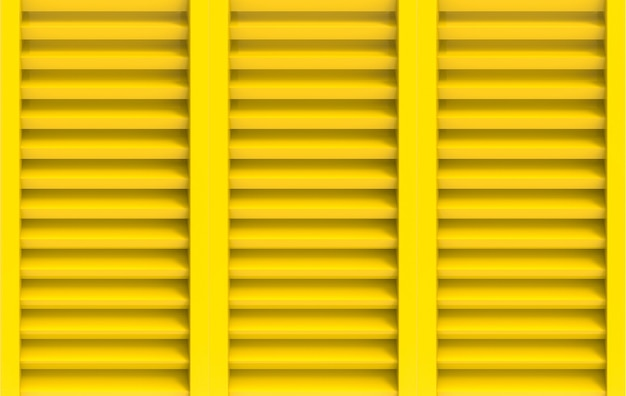 Rendu 3d. fond de mur porte panneau moderne jaune fenêtre.