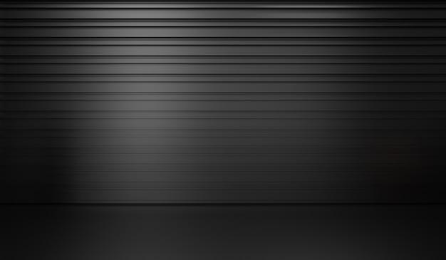 Rendu 3d de fond noir abstrait premium