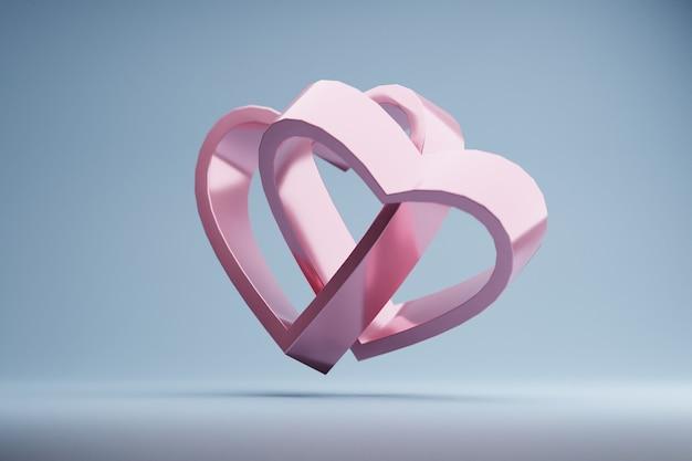 Rendu 3d en forme de coeur