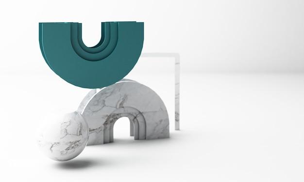 Rendu 3d de forme géométrique moderne