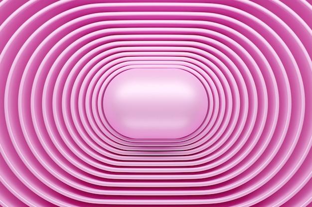 Rendu 3d fractale ronde multicolore abstraite, portail