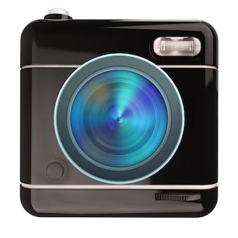 Rendu 3d d'une icône d'appareil photo