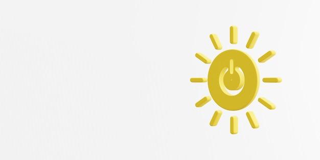 Rendu 3d d'icône d'énergie propre et abordable