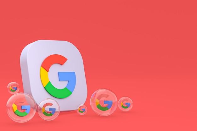 Rendu 3d des icônes google