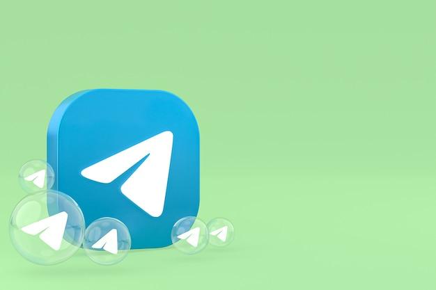 Rendu 3d des icônes de télégramme