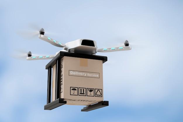 Rendu 3d d'ingénierie de technologie de drone
