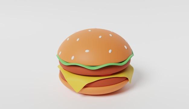 Rendu 3d jumbo burger