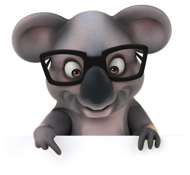 Rendu 3d de koala drôle