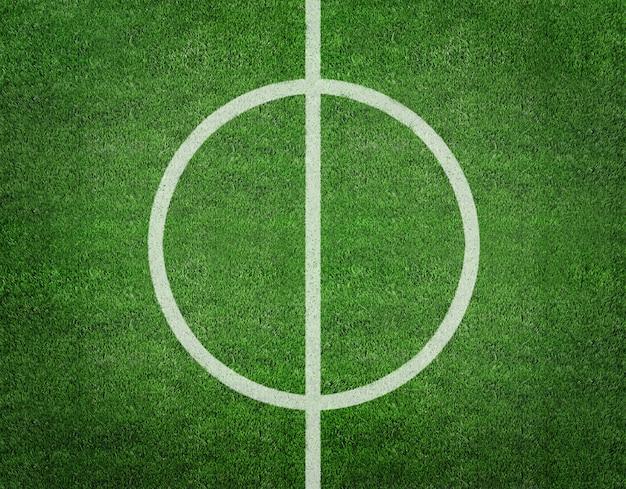 Rendu 3d de la ligne sur le terrain de football.