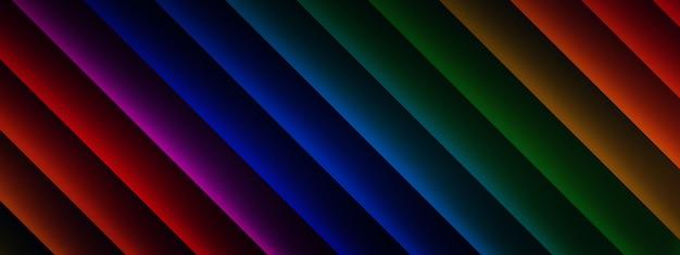 Rendu 3d de lignes multicolores, fond d'éléments géométriques