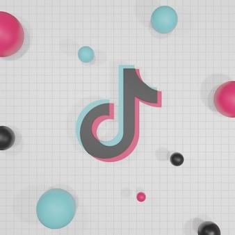 Rendu 3d de logo de médias sociaux