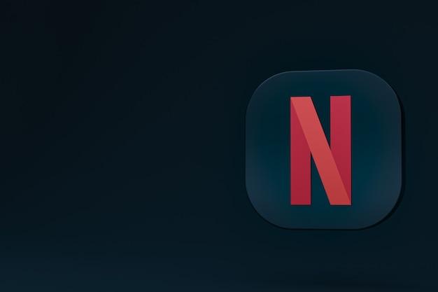 Rendu 3d de logo minimal netflix