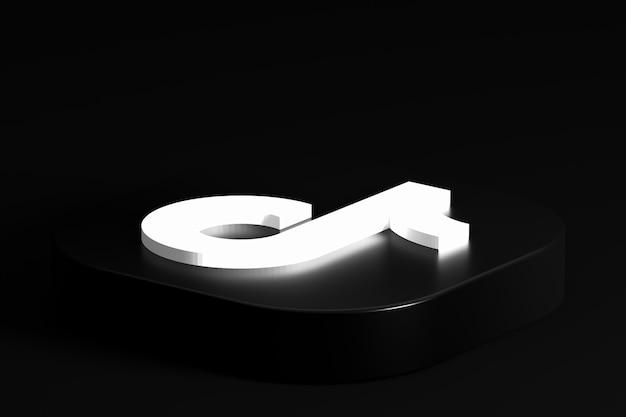Rendu 3d de logo minimal tiktok