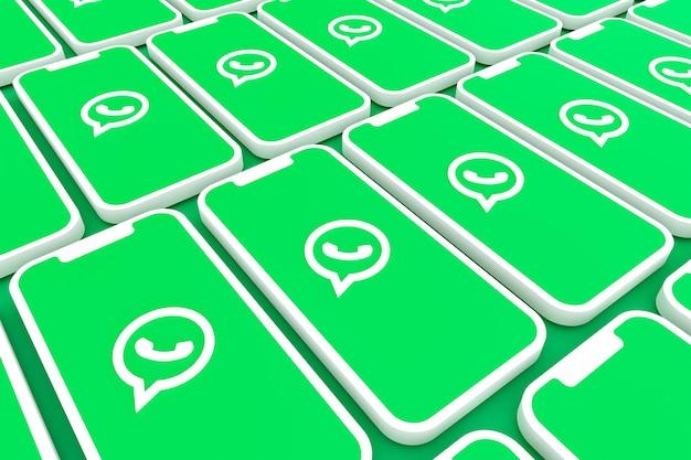 Rendu 3d de logo whatsapp