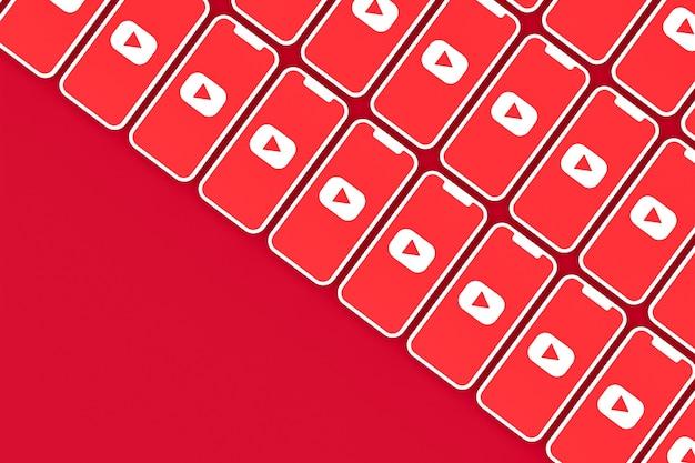 Rendu 3d de logo youtube