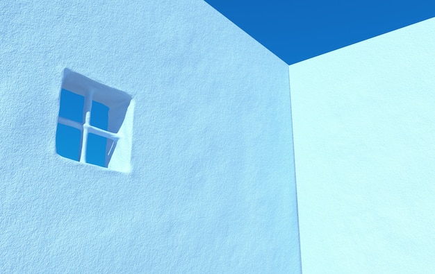 Rendu 3d de la maison de ville avec fond de ciel clair