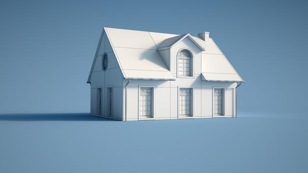 Rendu 3d d'un modèle architectural de la maison