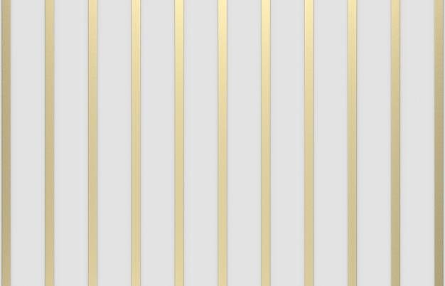 Rendu 3d. modèle de barre verticale de luxe moderne or sur fond gris.