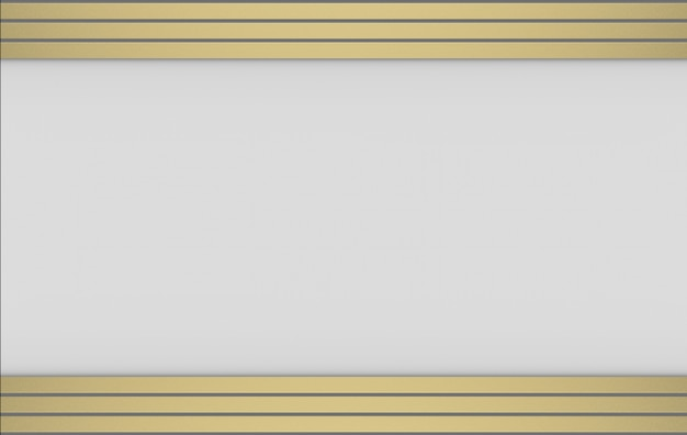 Rendu 3d. motif de barre horizontale de luxe moderne or sur fond gris.