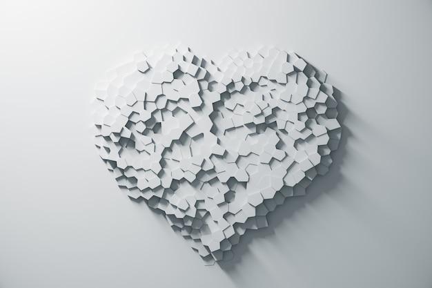 Rendu 3d d'un motif géométrique abstrait blanc