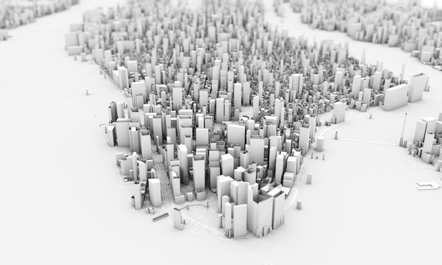 Rendu 3d de new york