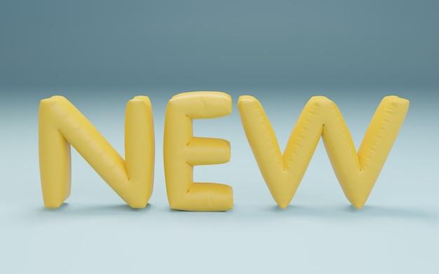 Rendu 3d de nouvelles lettres de ballons en aluminium