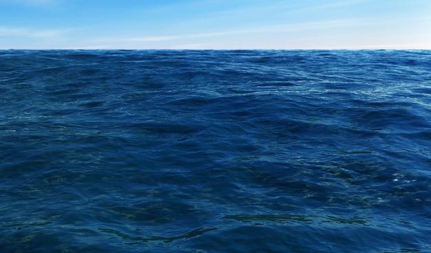 Rendu 3d de l'océan et du ciel