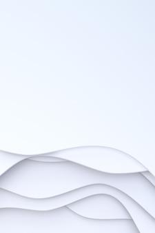 Rendu 3d, papier blanc abstrait coupé la conception de fond d'art pour le modèle d'affiche, fond blanc, motif abstrait