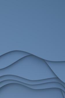 Rendu 3d, papier gris abstrait coupé fond de bannière art