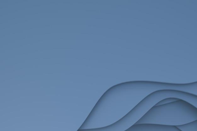 Rendu 3d, papier gris abstrait découpé design de fond d'art pour modèle d'affiche, fond gris