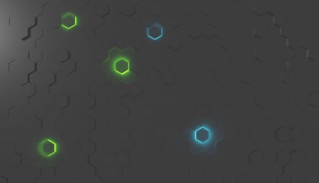 Rendu 3d de papier peint abstrait avec des formes géométriques.