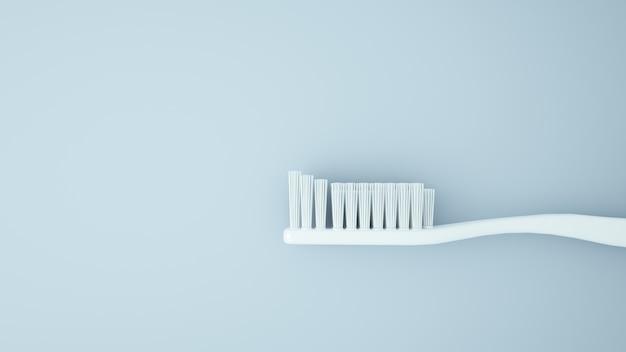 Rendu 3d de paquet de brosse à dents