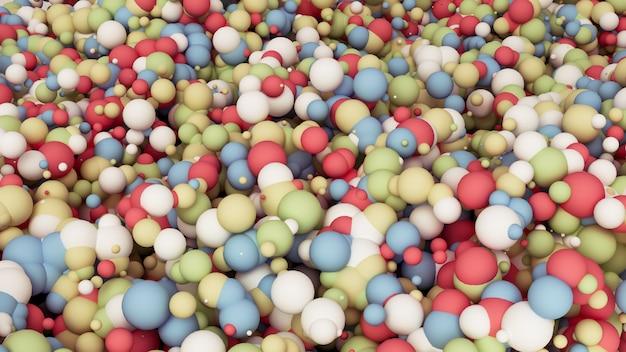 Rendu 3d de particules multicolores