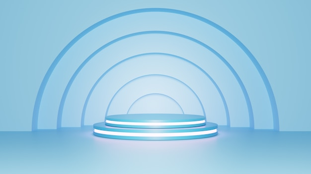 Rendu 3d. piédestal pour affichage, piédestal ou plate-forme, support de produit vierge.