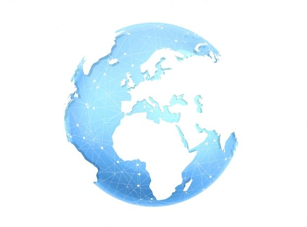 Rendu 3d de la planète terre numérique
