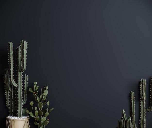 Rendu 3d de plante de cactus